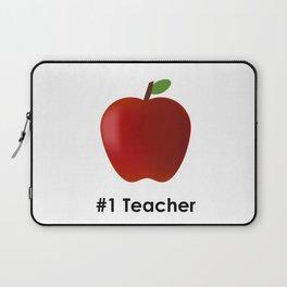 "#1 Teacher - A Fun Way To Say ""Thank You"" To Your Favorite Teacher Laptop Sleeve"