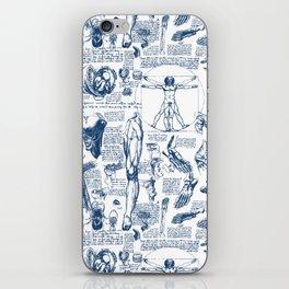 Da Vinci's Anatomy Sketchbook // Dark Blue iPhone Skin