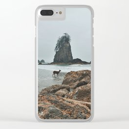 Deer on the Beach Clear iPhone Case