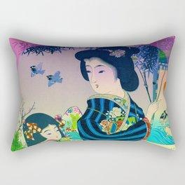 Japanese Geisha Rectangular Pillow
