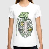 huebucket T-shirts featuring Grenade Garden by Huebucket