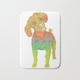 Excited Poodle Bath Mat