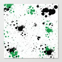 splatter Canvas Prints featuring Splatter by Inphocus Photography
