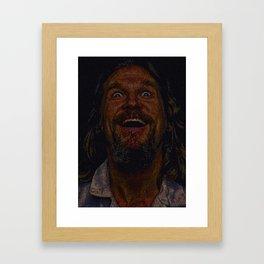 The Dude (Lebowski Screenplay print) Framed Art Print