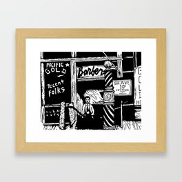 Pacific Gold Barbershop Tres Framed Art Print