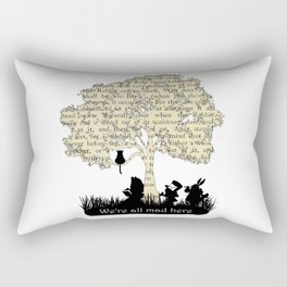 We're All Mad Here II - Alice In Wonderland Silhouette Art Rectangular Pillow
