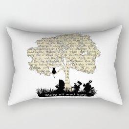 We're All Mad Here II - Alice In Wonderland Silhouette Art Rectangular Pillow