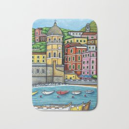 Colours of Vernazza Bath Mat