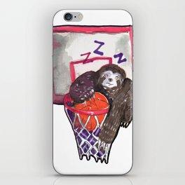 sloth playing basket iPhone Skin