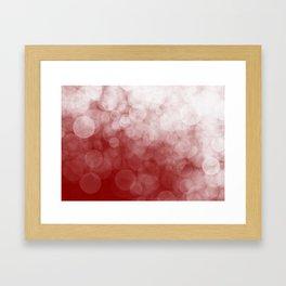 Cranberry Spotted Framed Art Print