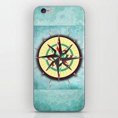 Striped Compass Rose iPhone & iPod Skin