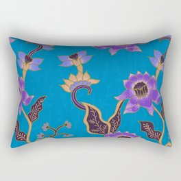 Blue Batik Pattern Rectangular Pillow
