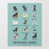 german Canvas Prints featuring GERMAN DOGS by DoggieDrawings