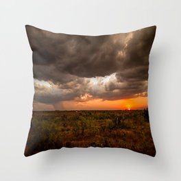 West Texas Sunset - Colorful Landscape After Storms Throw Pillow