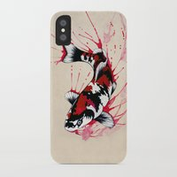 koi iPhone & iPod Cases featuring Koi by Puddingshades
