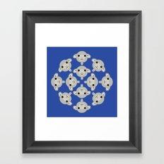 Sheep Circle - 3 Framed Art Print