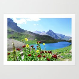Blue Lakes Art Print