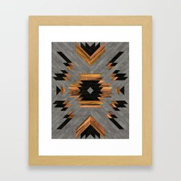Urban Tribal Pattern 6 - Aztec - Concrete and Wood Framed Art Print