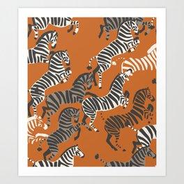 Zebra Race Art Print
