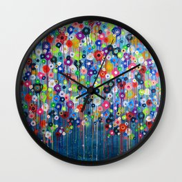 Happy Hour  2 floral Wall Clock