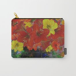 GRUNGY ANTIQUE RED FLORAL STILL LIFE Carry-All Pouch