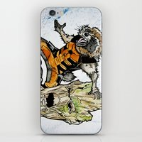 rocket raccoon iPhone & iPod Skins featuring Rocket Raccoon and Groot by artbyteesa