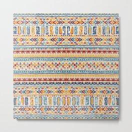 Multicolore Boho Style Artwork 7 Metal Print