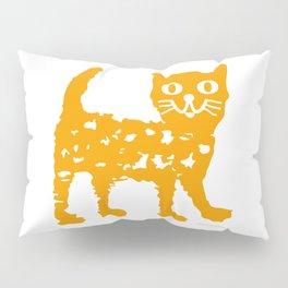 Orange cat illustration, cat pattern Pillow Sham