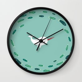 Wendell the Narwhal Wall Clock