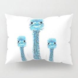 Curious Emu Pillow Sham