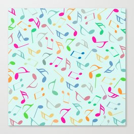 Music Colorful Notes Canvas Print