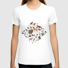 Wild Woodland Animals T-shirt