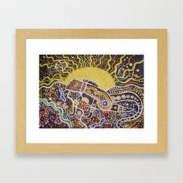 Water Dragon Totem Animal Framed Art Print