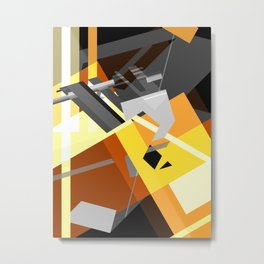 Compression Metal Print