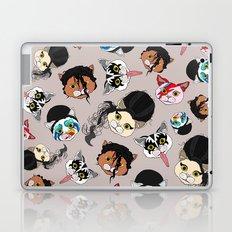 Pop Cats - Pattern French Gray Grey Laptop & iPad Skin