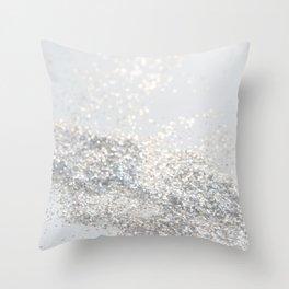 Silver Gray Glitter #3 #shiny #decor #art #society6 Throw Pillow