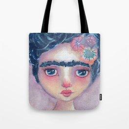 Frida In Lavendar Tote Bag