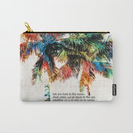 Colorful Palm Trees - Returning Home - By Sharon Cummings Carry-All Pouch
