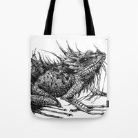 frog Tote Bags featuring frog by Gemma Tegelaers
