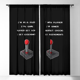 Funny Gamer Achievement Player Blackout Curtain