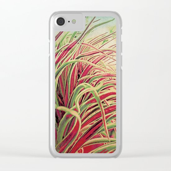 Green & red succulent. Clear iPhone Case