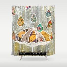 Dance In the Rain Shower Curtain