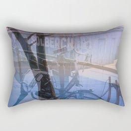 Biking in Nature Rectangular Pillow
