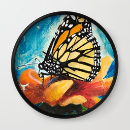 Butterfly - Discreet clarity - by LiliFlore Wall Clock