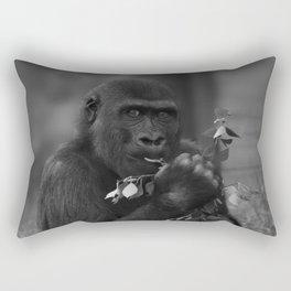Cheeky Gorilla Lope Mono Rectangular Pillow