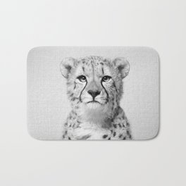 Cheetah - Black & White Bath Mat