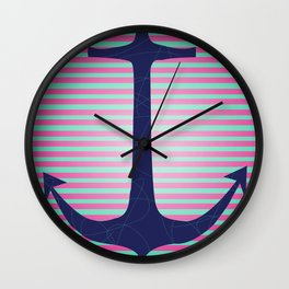 Lonely Anchor Wall Clock