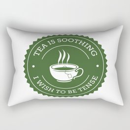 Tea Quote Rectangular Pillow
