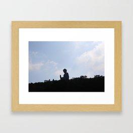 Tian Tan Buddha Framed Art Print