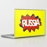 russia Laptop & iPad Skins featuring Russia by mailboxdisco